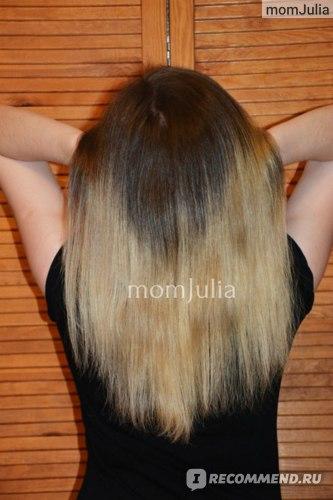 Волосы после применения бальзама Hair Vital для укрепления и роста волос
