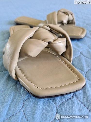 Zara женские сандалии с дутыми ремешками