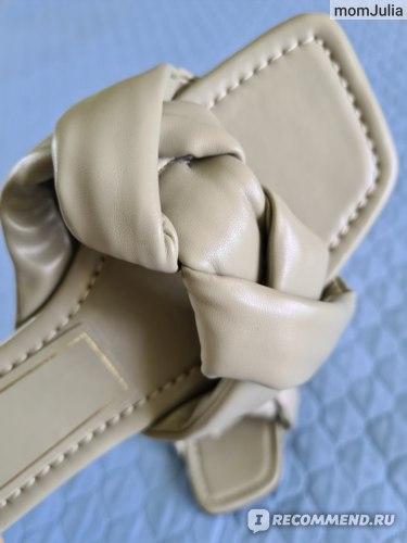 плетеные шлепанцы Zara
