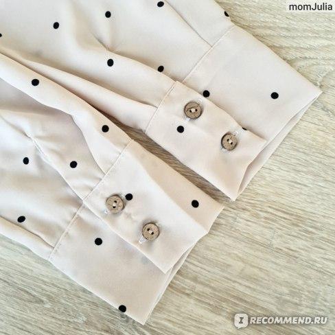 офисная блузка с длинным рукавом алиэкспресс