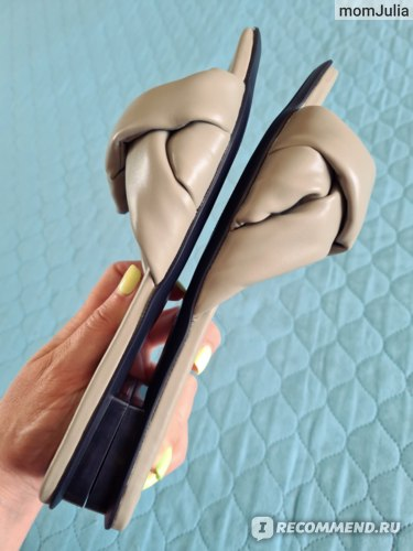 Zara сандалии с квадратным носом