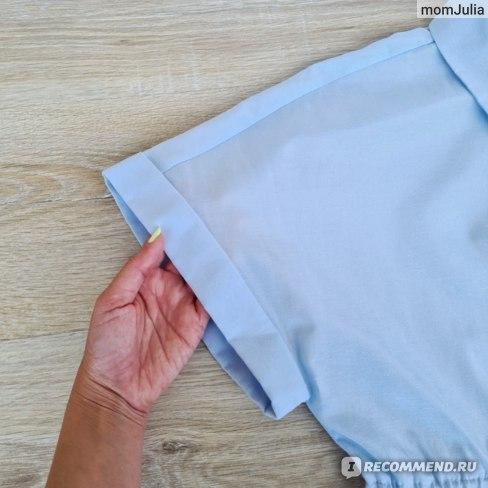 Небесно-голубое ярусное платье Зара