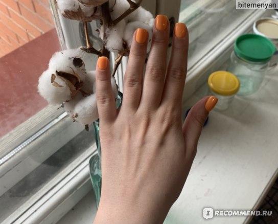 Ногти сразу после маникюра