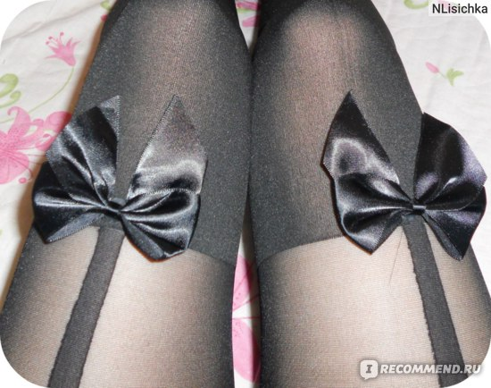 Колготки AliExpress 2015 Hot Sale Vintage Tights Bow Pantyhose Tattoo Mock Bow Suspender Sheer Stockings For female calcetines Bas Free Shipping фото