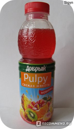 Напиток сокосодержащий Добрый Pulpy Тропический фото