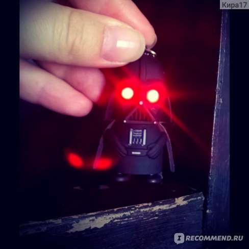 Брелок светящийся Aliexpress Дарт Вейдер  New Star Wars Figures toy Black Knight Darth Vader Stormtrooper PVC Action Figures LED toys фото