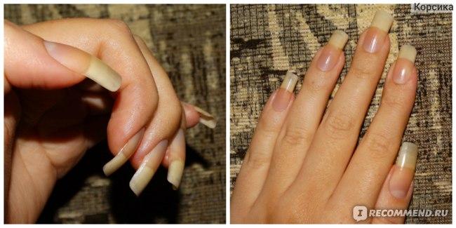 Ногти с нанесенным на них воском