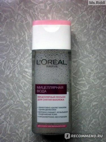 Мицеллярная вода L'Oreal Paris для снятия макияжа для сухой и чувствительной кожи фото