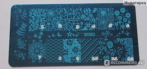 Пластина для стемпинга XY-J  12 фото