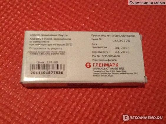 Антибиотик Гленмарк Глево фото