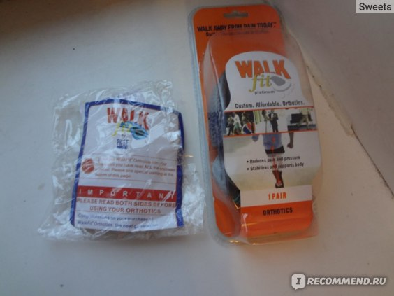 Ортопедические полустельки WalkFit Platinum фото