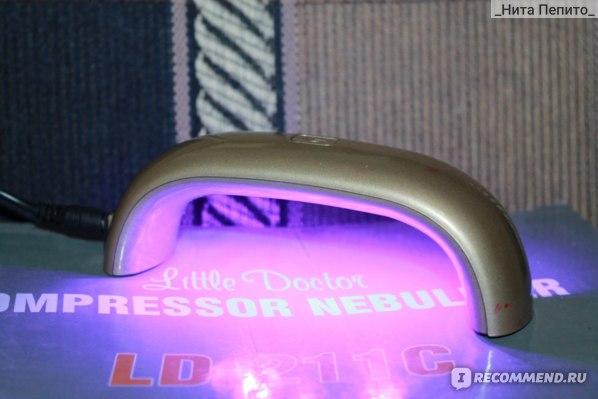 LED лампа для полимеризации гель-лака Aliexpress MINI NAIL LAMP GY-LED-018 (9w) фото