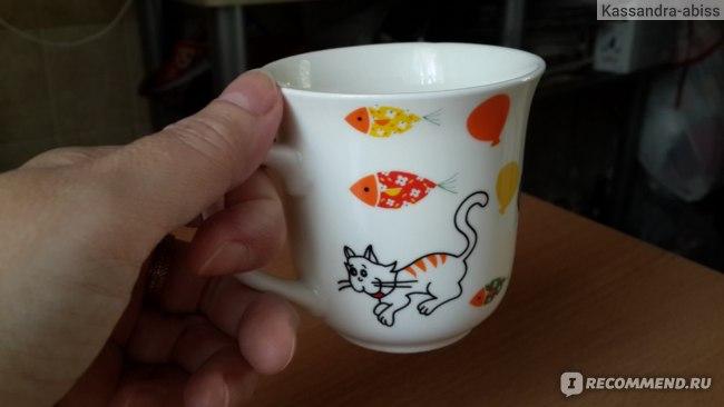 Чашка Fix Price (Фикс Прайс) Коты  фото