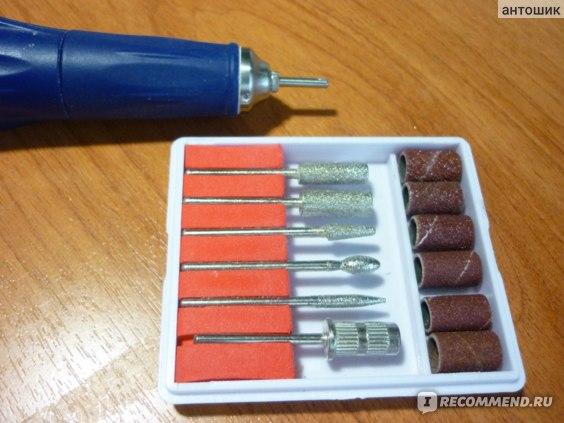 Насадки для фрейзера Aliexpress Freeship- 6PCS Drill Bits Sanding band Nail Drill Replacement Set Nail Electric File Metal Bits Dropshipping [retail]SKU:E0236 фото