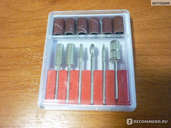 Насадки для фрейзера Aliexpress Freeship- 6PCS Drill Bits Sanding band Nail Drill Replacement Set Nail Electric File Metal Bits Dropshipping [retail]SKU:E0236 фото