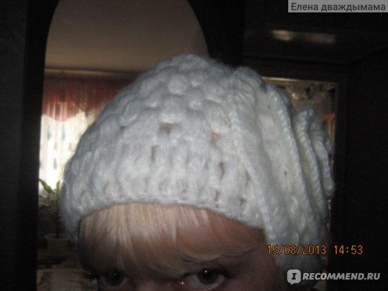 Шапка AliExpress Korean autumn winter mohair flowers adult wool caps ,white woman handmade knit hats, free shipping фото