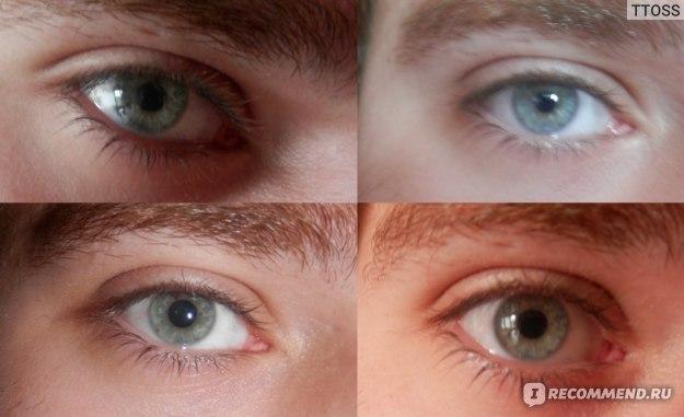 Оттеночные контактные линзы Конкор Радужные фото
