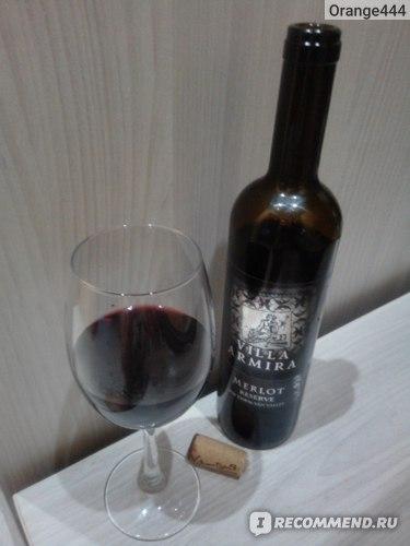 """Вино географического наименования сухое красное VINIVEL ltd. """"Villa Armira Merlot reserve"""" фото"""