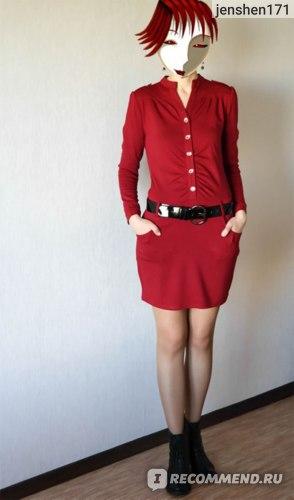 Платье AliExpress Free Shipping New Career OL woman's Long Sleeve Tunic Pencil Mini Slim Casual Dresses Free Belt E0887 фото