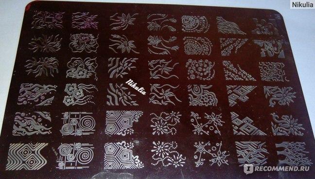 Пластина для стемпинга Aliexpress Stamping Nail Art, XL Plate, A-Z Series фото