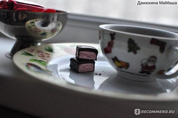 Конфеты глазированные Яшкино Бон Тайм нуга со вкусом клубники фото