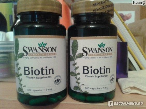 Витамины    Biotin Swanson 5000 mg фото