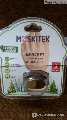 Браслет от комаров Moskitek Аромат эфирных масел  фото