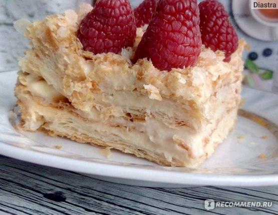 "Торт NapoleonCake ""Наполеон"" со свежей малиной фото"