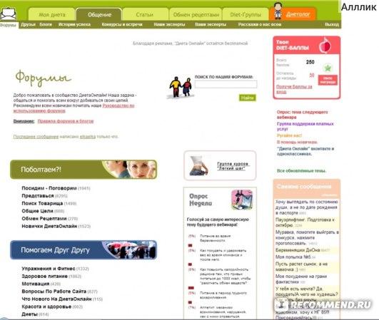 Сайты для похудения рейтинг