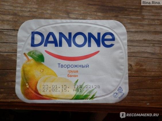"""Десерт Danone Творожный """"Груша и банан"""" фото"""