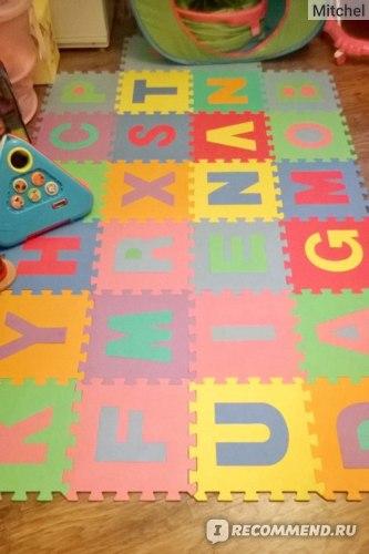 Aliexpress Детский резиновый коврик-пазл Free Shipping,Hot Sale,child 26 letters mats,eva foam cartoon puzzle floor mat,safety,jigsaw puzzle carpet фото