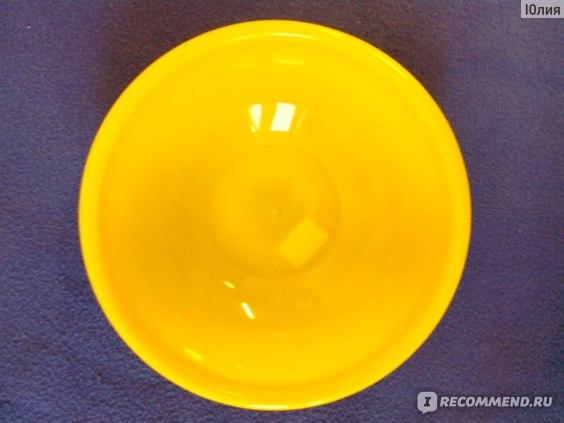 Салатница круглая с крышкой и приборами Plast Team  фото
