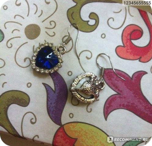 Серьги Aliexpress Lot Earings Free Shipping Titanic 100th Anniversary Jewelry Crystal Heart Earrings Fashion Eardrop фото