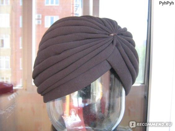Шапка-чалма, цвет коричневый
