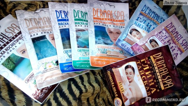 Маска для лица и тела Стимул-колор косметик Dermal spa therapy целебная глина голубая с экстрактом алоэ вера фото