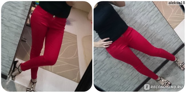 Джинсы AliExpress WOMENS SEXY SOLID STRETCH CANDY COLORED SLIM FIT SKINNY PANT TROUSERS фото