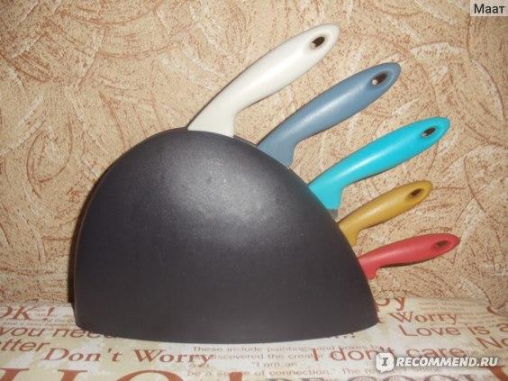 Ножи IKEA СЛИПАД Подставка, 5 ножей, разноцветный фото