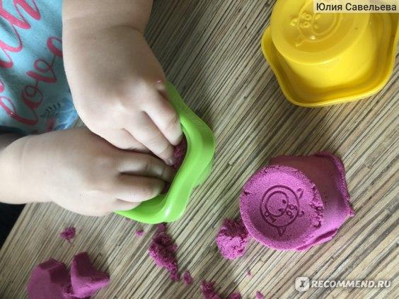 Attivio Песок сенсорный розовый фото