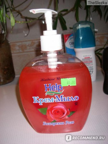"""Жидкое крем-мыло Help """"Болгарская роза"""" фото"""
