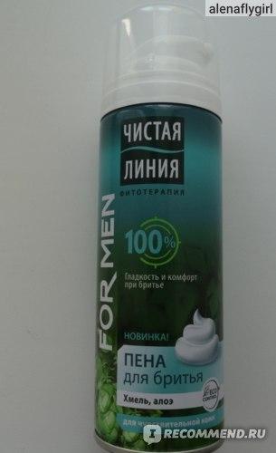 Пена для бритья Чистая линия Фитотерапия for men фото