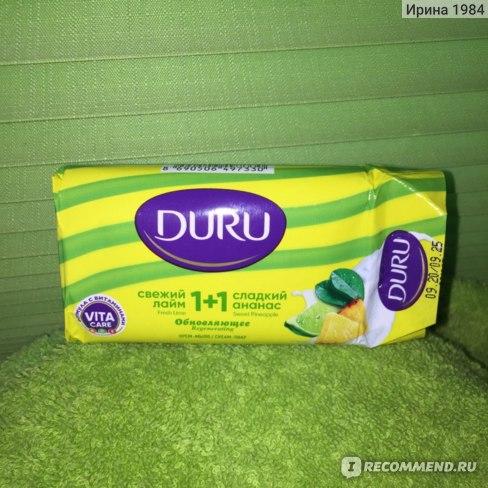 Крем-мыло DURU 1+1 Обновляющее свежий лайм/сладкий ананас фото