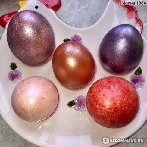 """Краска для яиц Домашняя кухня Перламутровый блеск набор """"Коралловое сияние""""  фото"""