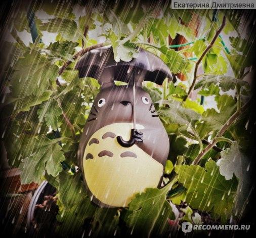 "Ebay Фигурка Тоторо с зонтиком Cute STUDIO GHIBLI My Neighbor Totoro with Umbrella Resin 4""/10CM Figure Statue фото"