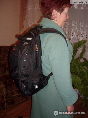 пустой рюкзак на маме