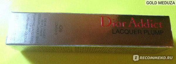 Лаковый тинт для губ Dior Addict Lacquer Plump фото