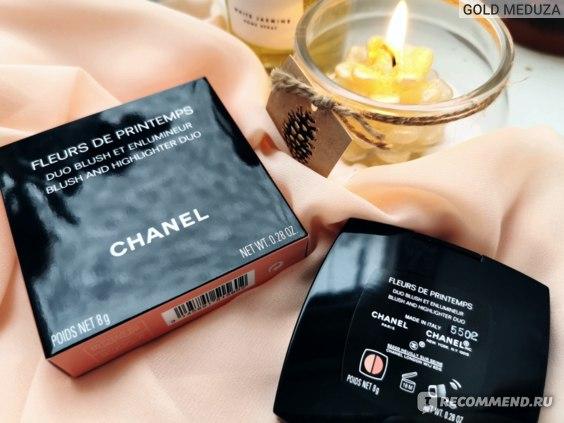 Палетка для макияжа лица Chanel FLEURS DE Printemps Spring/Summer 2021 Дуэт пудровых текстур Весна-лето 2021