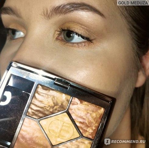 Макияж глаз и скул с палеткой 699 Mirage Dior Dune Summer 2021 Limited Edition Collection
