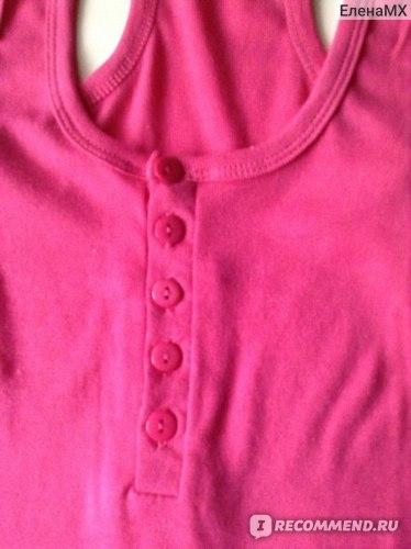 Майка AliExpress Sexy Women's Button Tank Top Casual T-Shirt 9 colors  фото