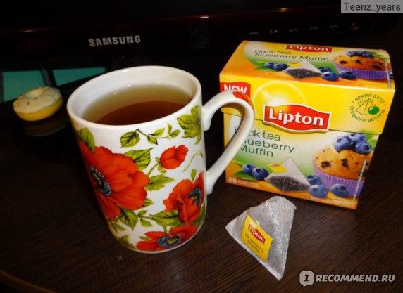 "Чай в пирамидках Lipton ""Blueberry muffin"" фото"