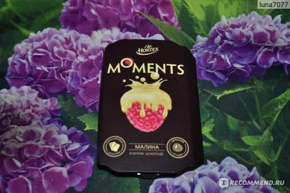 Малина Hortex  Moments в белом шоколаде фото